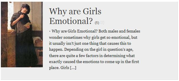 why are girls so emotional