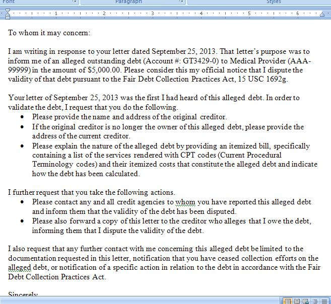 Debt Relief National Debt Relief Letter Templates
