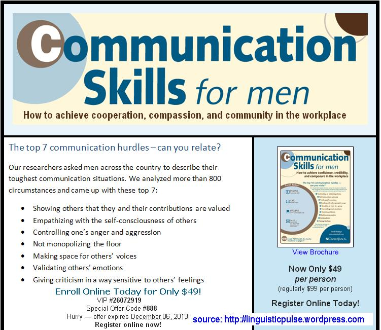 Men and women communication